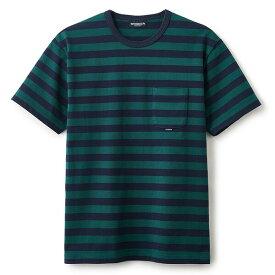 INTERBREED インターブリード Basic Border SS Tee 半袖 Tシャツ ボーダー グリーン×ネイビー