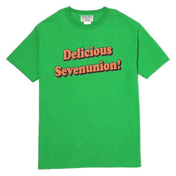 7UNION 7ユニオン Delicious Tee 半袖 Tシャツ ユニセックス IAVW-021C グリーン