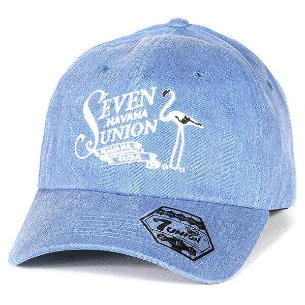7UNION 7ユニオン 7s Flamingo Bent Brim Cap ボールキャップ ベントブリムキャップ IAVW-142 ブルー