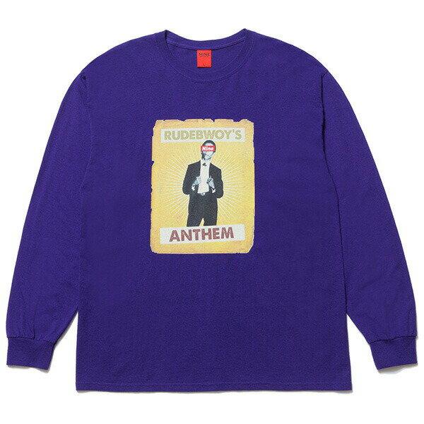 NINE RULAZ LINE ナインルーラーズ Rude Bwoy Bob L/S Tee 長袖Tシャツ ロンT NRAW17-008 パープル