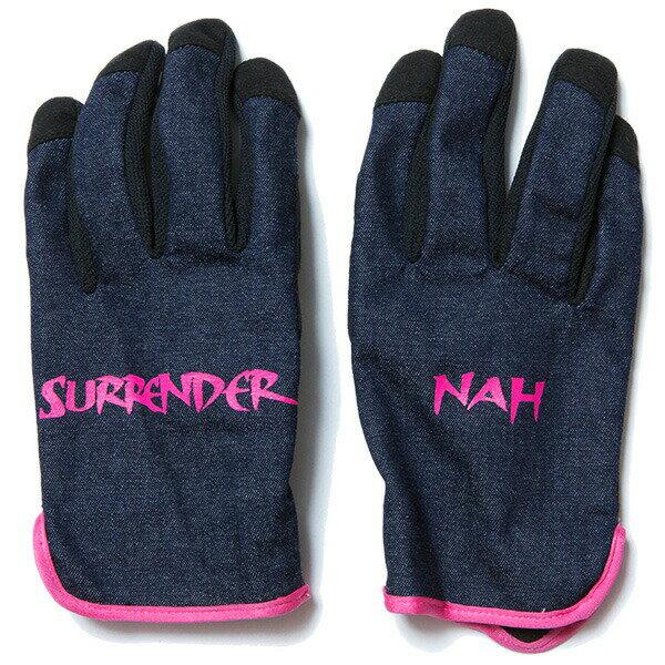 NINE RULAZ LINE ナインルーラーズ Denim Glove by ST LINE 手袋 メンズ グローブ ストレッチ NRAW17-051 ネイビー