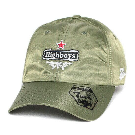 7UNION 7ユニオン Highboys Bent Brim Cap ボールキャップ ベントブリムキャップ 帽子 MA-1 ICY-128 グリーン