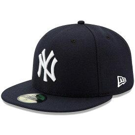 ニューエラ キャップ 送料無料 メンズ レディース NEW ERA 59FIFTY MLB オンフィールド ニューヨーク・ヤンキース ゲーム ニューエラキャップ newera cap 帽子 吸汗速乾性 紫外線防御 おしゃれ プレゼント ネイビー 55.8cm〜63.5cm 11449355
