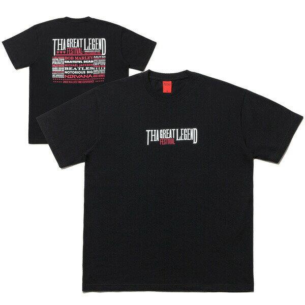 NINE RULAZ LINE ナインルーラーズ The Festival Poster Tee 半袖 Tシャツ NRAW17-001 ブラック