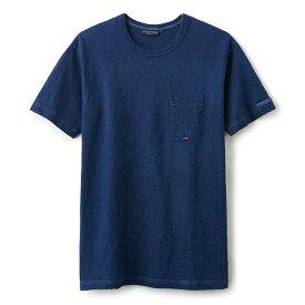 INTERBREED インターブリード Indigo Slab Cotton Pocket Tee 半袖 ポケット Tシャツ ミッドインディゴ