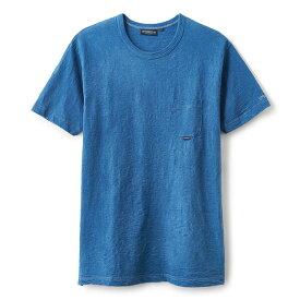 INTERBREED インターブリード Indigo Slab Cotton Pocket Tee 半袖 ポケット Tシャツ ライトインディゴ