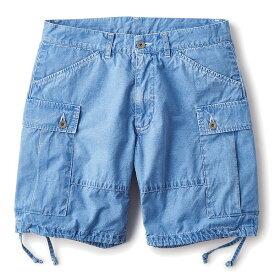 送料無料 INTERBREED インターブリード Ripstop Indigo Shorts カーゴショーツ ショートパンツ ライトインディゴ