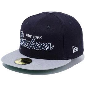ニューエラ キャップ メンズ レディース NEW ERA 59FIFTY Old Script Logo オールドスクリプトロゴ ニューヨーク・ヤンキース 帽子 CAP プレゼント ネイビー/グレーバイザー 11404791