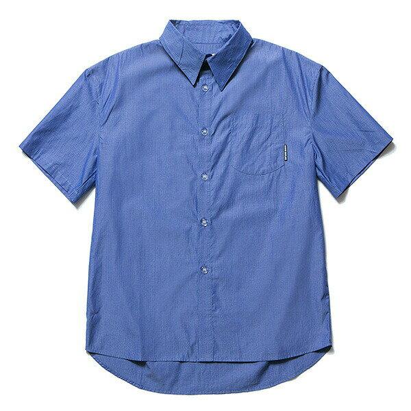 送料無料 NINE RULAZ LINE ナインルーラーズ Drop Shoulder Stripe Shirt 半袖 シャツ ドロップショルダー ストライプ NRSS17-018 ブルー