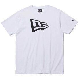 ニューエラ Tシャツ メンズ レディース 送料無料 NEW ERA Cotton Tee Flag Logo フラッグロゴ ホワイト/ブラック S-XXL 11782996