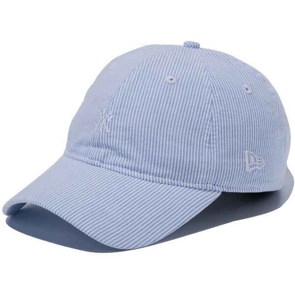 ニューエラ キャップ NEW ERA 9THIRTY Seersucker シアサッカー ニューヨーク・ヤンキース ミニロゴ キャップ 帽子 CAP 11404624 ブルー