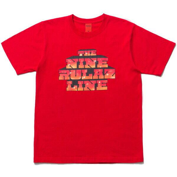 NINE RULAZ LINE ナインルーラーズ Graffiti Logo Tee 半袖 Tシャツ NRSS17-041 レッド