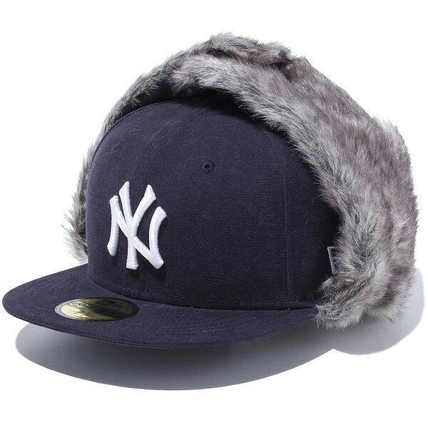 ニューエラ NEW ERA The Trapper トラッパー ウォッシュドダック ニューヨーク・ヤンキース キャップ ユニセックス 11474957 ネイビー×ホワイト