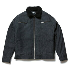 送料無料 NINE RULAZ LINE ナインルーラーズ Denim Boa Jacket ボア メンズ デニムジャケット 長袖 NRAW17-028 ブラック