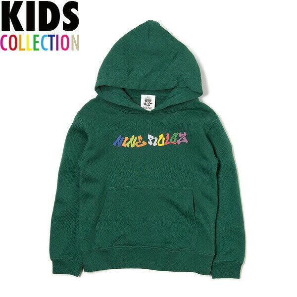 NINE RULAZ LINE キッズ ナインルーラーズ Kid's Graffiti Logo Hoodie パーカー プルオーバー 子供服 NRKAW17-009 グリーン