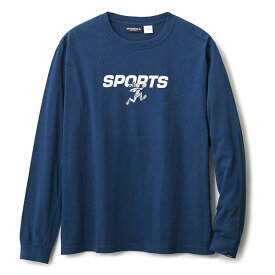 INTERBREED インターブリード ACTIVE SERVICE Disney × Interbreed Goofy Sports LS Tee 長袖 ロンT TEIJIN ネイビー