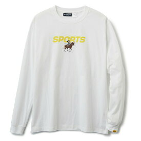 INTERBREED インターブリード ACTIVE SERVICE Disney × Interbreed Minnie Sports LS Tee 長袖 ロンT TEIJIN ホワイト