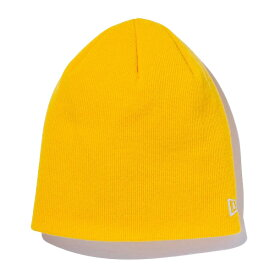 ニューエラ ニットキャップ NEW ERA ベーシックビーニー ニット帽子 ビーニー BASIC BEANIE 11474715 イエロー×ホワイトフラッグ