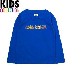 NINE RULAZ LINE キッズ ナインルーラーズ Kid's Graffiti Logo L/S Tee 長袖 Tシャツ ロンT 子供服 NRKAW17-004 ブルー