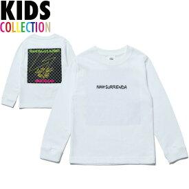 NINE RULAZ LINE キッズ ナインルーラーズ Kid's Nah Surrenda L/S Tee 長袖 Tシャツ ロンT 子供服 NRKAW17-006 ホワイト