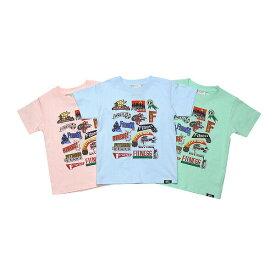 【FITNESS-フィットネス】Jamaican Label キッズTシャツ/ ブルー&メロン&ピンク