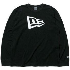 ニューエラ 長袖 コットン Tシャツ フラッグロゴ NEW ERA ロンT メンズ レディース ブラック/ホワイト 11783083