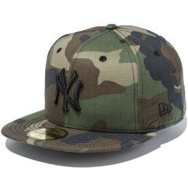 ニューエラ キャップ メンズ レディース NEW ERA 59FIFTY MLB ニューヨーク・ヤンキース キャップ 帽子 CAP メジャーリーグ プレゼント 迷彩 ウッドランドカモ/ブラック 11308533