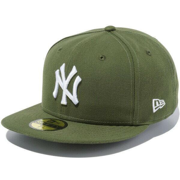 ニューエラ キャップ NEW ERA 59FIFTY MLB ニューヨーク・ヤンキース キャップ ユニセックス 帽子 11308547 ライフルグリーン×ホワイト