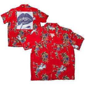 ナインルーラーズ アロハシャツ 半袖 総柄 NINE RULAZ Grills Aloha Shirt NRSS18-030 レッド