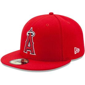 ニューエラ キャップ 送料無料 メンズ レディース NEW ERA 59FIFTY MLB オンフィールド ロサンゼルス・エンゼルス ゲーム ニューエラキャップ newera cap 帽子 吸汗速乾性 紫外線防御 おしゃれ プレゼント レッド 55.8cm〜63.5cm 11449402