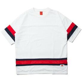 ナインルーラーズ Tシャツ フットボールTシャツ メッシュ 半袖 NINE RULAZ Mesh Football Tee NRSS18-022 ホワイト