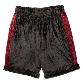 ナインルーラーズ パンツ ショーツ ベロア セットアップ NINE RULAZ Velour Shorts NRSS18-027 ブラック