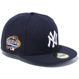 ニューエラ キャップ NEW ERA 59FIFTY ニューヨーク・ヤンキース ワールドシリーズ2003 帽子 CAP メジャーリーグ 100周年記念 プレゼント ネイビー/ホワイト 11781623