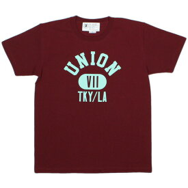 7ユニオン Tシャツ 7UNION Property Of 7union Tee IPVW-013C WINE ワインカラー