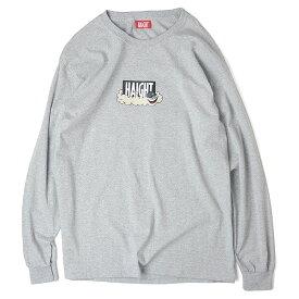 ヘイト Tシャツ メンズ レディース 長袖 コラボレーション ロンT 送料無料 HAIGHT × Cleofus L/S Tee S-XXL グレー HT-W188003
