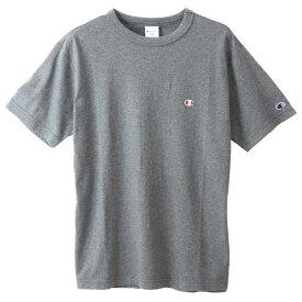 チャンピオン Tシャツ メンズ CHAMPION ベーシック チャンピオン 胸Cロゴ ワンポイント おしゃれ ブランド プレゼント ヘザーチャコール S-XL C3-P300