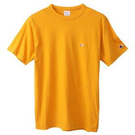 チャンピオン Tシャツ メンズ CHAMPION ベーシック チャンピオン 胸Cロゴ ワンポイント おしゃれ ブランド プレゼント イエロー S-XL C3-P300