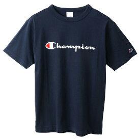 チャンピオン Tシャツ メンズ CHAMPION ベーシック チャンピオンロゴ おしゃれ ブランド プレゼント ネイビー S-XXL C3-P302