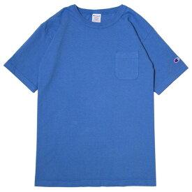 チャンピオン Tシャツ メンズ 送料無料 CHAMPION T1011 ポケット付きTシャツ ポケT MADE IN USA おしゃれ ブランド プレゼント ブルーグレー S-XL C5-P305