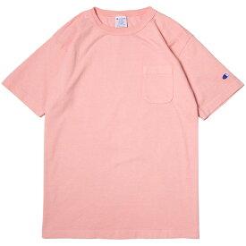 チャンピオン Tシャツ メンズ CHAMPION T1011 ポケット付き US Tシャツ 19SS MADE IN USA ローズ S-XL C5-P305