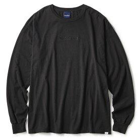 インターブリード Tシャツ メンズ レディース INTERBREED Archive Logo Pigment L/S Tee ロンT 長袖 ピグメント加工 ストリート ブランド ロゴ 刺繍 ブラック 送料無料 M-XXL IB19AW-02
