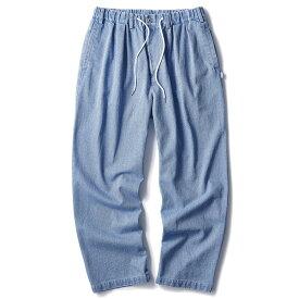 インターブリード パンツ メンズ レディース INTERBREED Indigo Relax Trouser イージーパンツ デニム タックパンツ バギー アイスウォッシュ 送料無料 M-XL IB19AW-09
