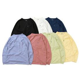 ラファイエット Tシャツ メンズ レディース LAFAYETTE Solid Pocket L/S Tee 長袖 ポケT ストリート ブランド ロンT 無地T 無地 送料無料 7色展開 S-XXL LA190101