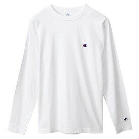 チャンピオン Tシャツ 長袖 CHAMPION ロングスリーブTシャツ ベーシック ワンポイント メンズ ホワイト S-XXL C3-P401