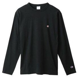 チャンピオン Tシャツ 長袖 CHAMPION ロングスリーブTシャツ ベーシック ワンポイント メンズ ブラック C3-P401