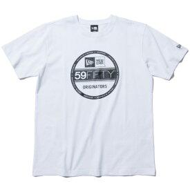 ニューエラ Tシャツ メンズ レディース 送料無料 NEW ERA Cotton Tee Visor Sticker Logo バイザーステッカーロゴ newera cap おしゃれ プレゼント ホワイト/ブラック S-XXL 11782974