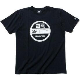 ニューエラ Tシャツ メンズ レディース 送料無料 NEW ERA Cotton Tee Visor Sticker Logo バイザーステッカーロゴ ブラック/ホワイト S-XXL 11782976