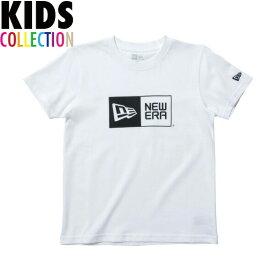 ニューエラ Tシャツ キッズ NEW ERA Kid's コットン Tシャツ 子供用 男の子 女の子 誕生日 プレゼント ボックスロゴ ブラック/ホワイト 130-160サイズ 11900251