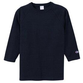 チャンピオン Tシャツ 7分袖 メンズ 送料無料 CHAMPION T1011 ラグラン3/4スリーブ MADE IN USA おしゃれ ブランド プレゼント ネイビー S-XL C5-P404