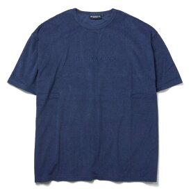 インターブリード Tシャツ INTERBREED Pile Resort S/S Tee パイル生地 半袖 ネイビー M-XL IB19SS-26